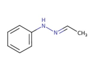 Acetylaldehyde phenylhydrazone (APH) structure from ChemIDPlus (NIH).