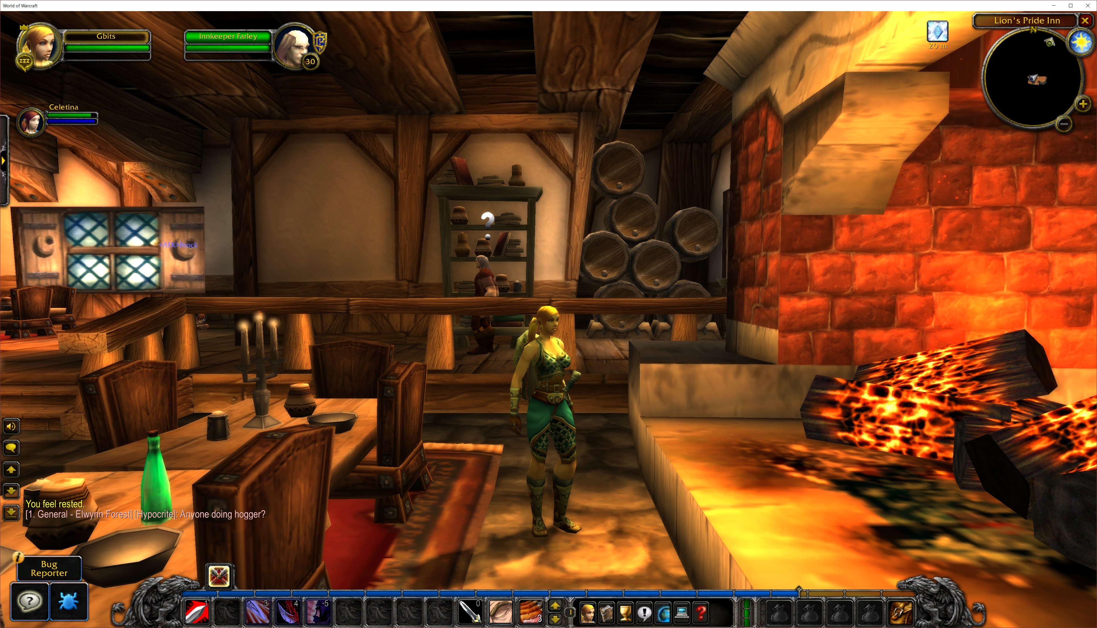 Example of gameplay from World of Warcraft.