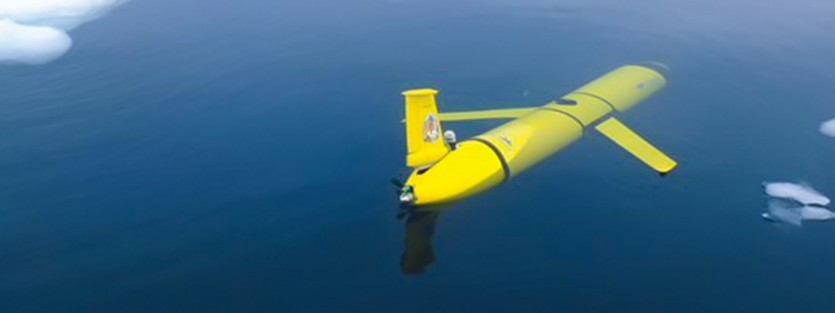 Underwater glider for whale research.