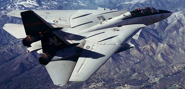 The F-14 Tomcat, developed during Donald Rumsfeld's first tenure as secretary of defense.
