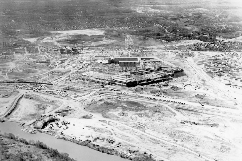 Early image of the Pentagon under construction.