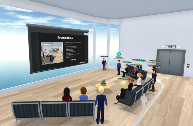 Example of a virtual meeting space.