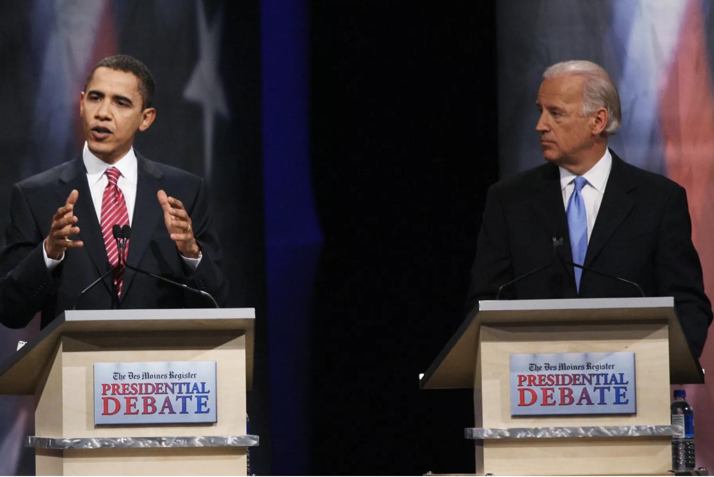 Biden with Obama at the Presidential Debate (2007)