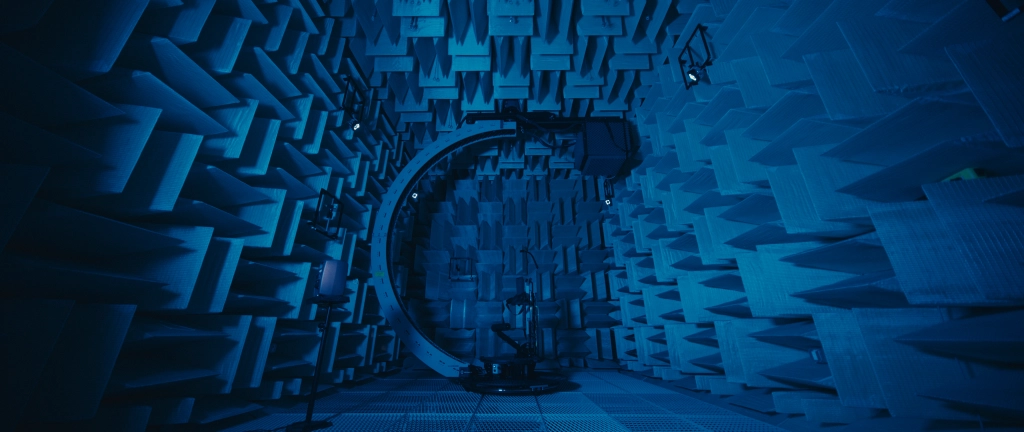 Anechoic chamber used by Facebook Reality Labs for modeling spatial sound.