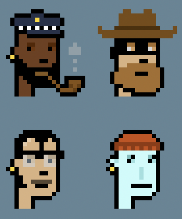 CryptoPunks by LarvaLabs and traded on Ethereum