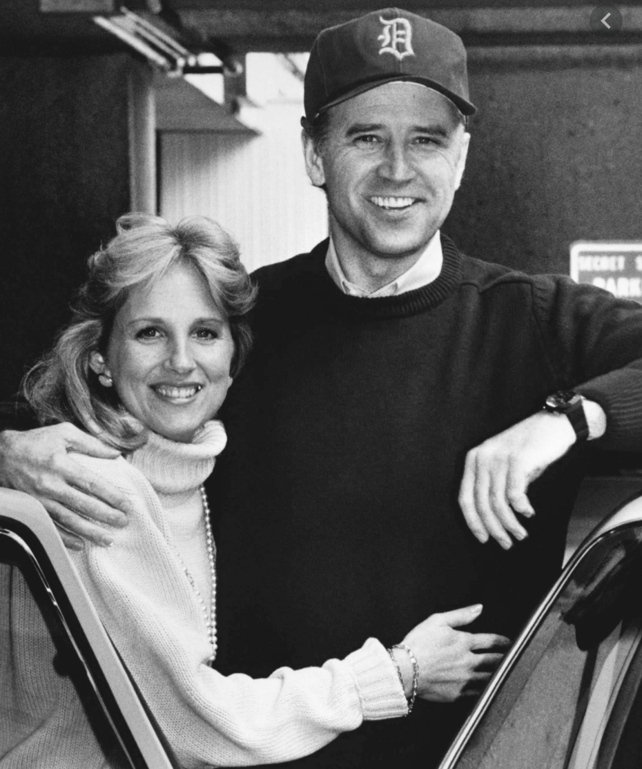 Joe & Jill Biden after Joe's brain surgeries at Walter Reed Army Medical Center (1988)