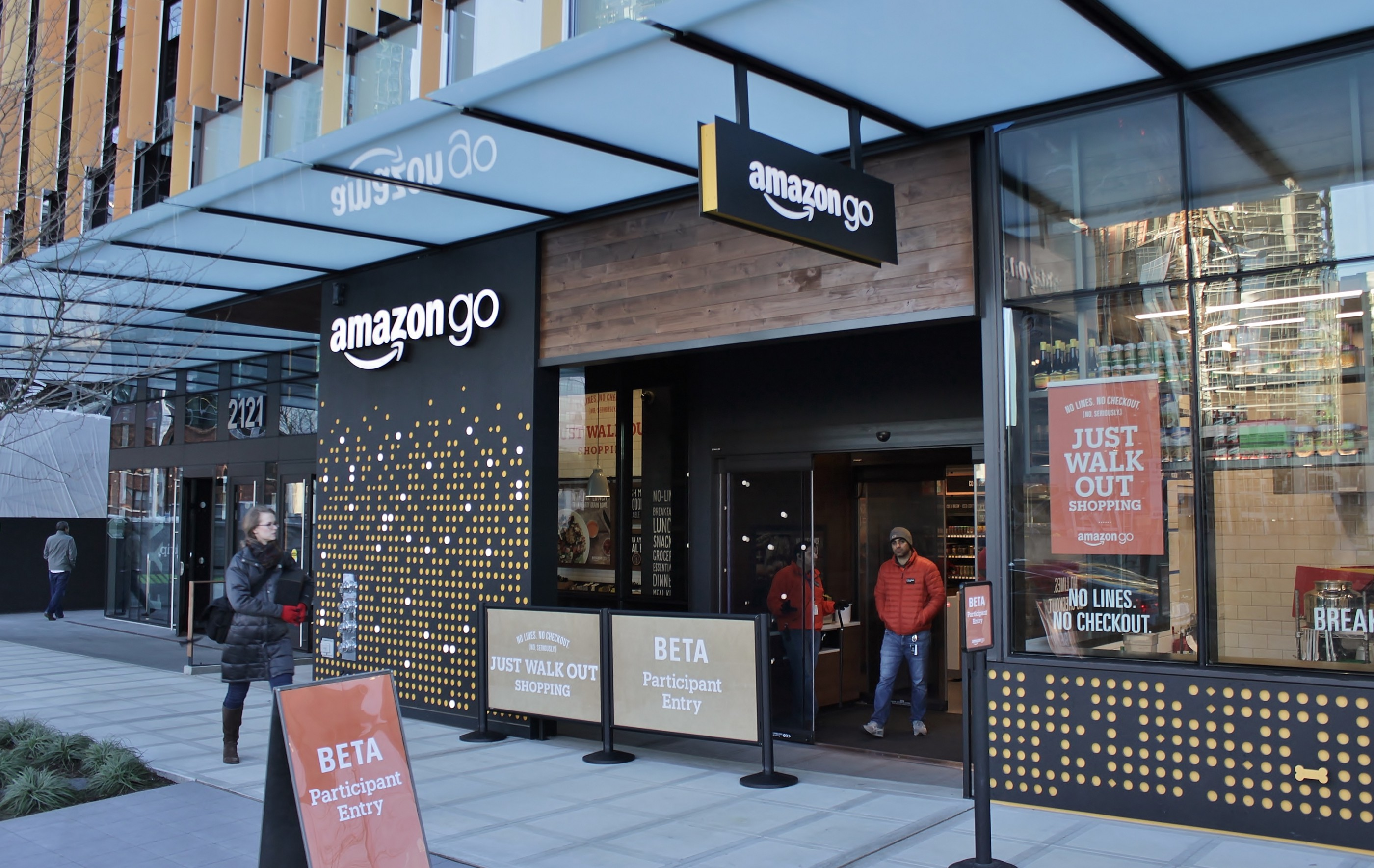 Amazon Go store, which has no cashiers or payment points