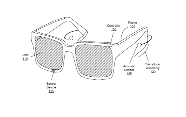 Image from a patent for Facebook's planned AR glasses.