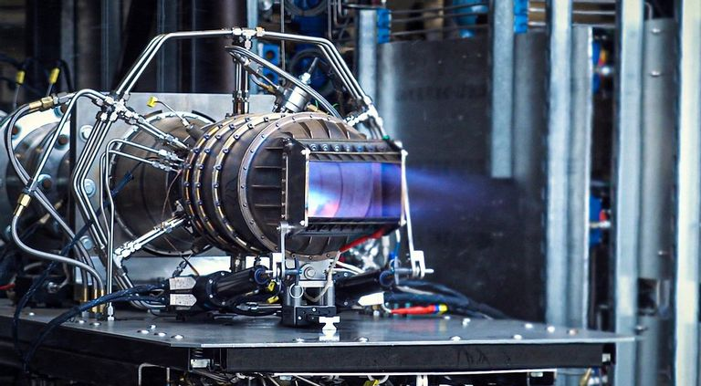 Hermeus's combined cycle engine during testing.
