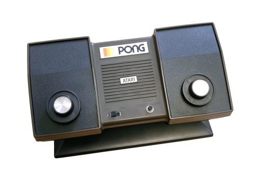 The Atari Pong home console.