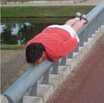 Example of the planking fad.
