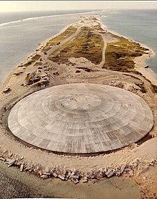Runit Island radioactive waste coffin.