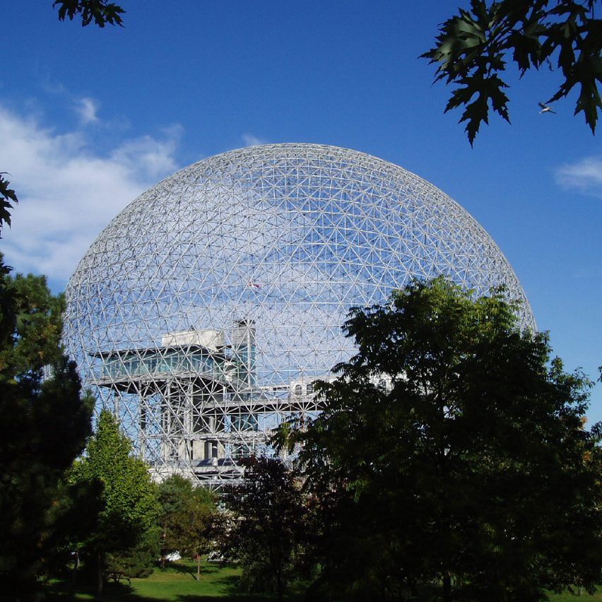 Fuller's geodesic dome designed for the United States of America Pavilion from Expo 67 at Montreal's World Fair.