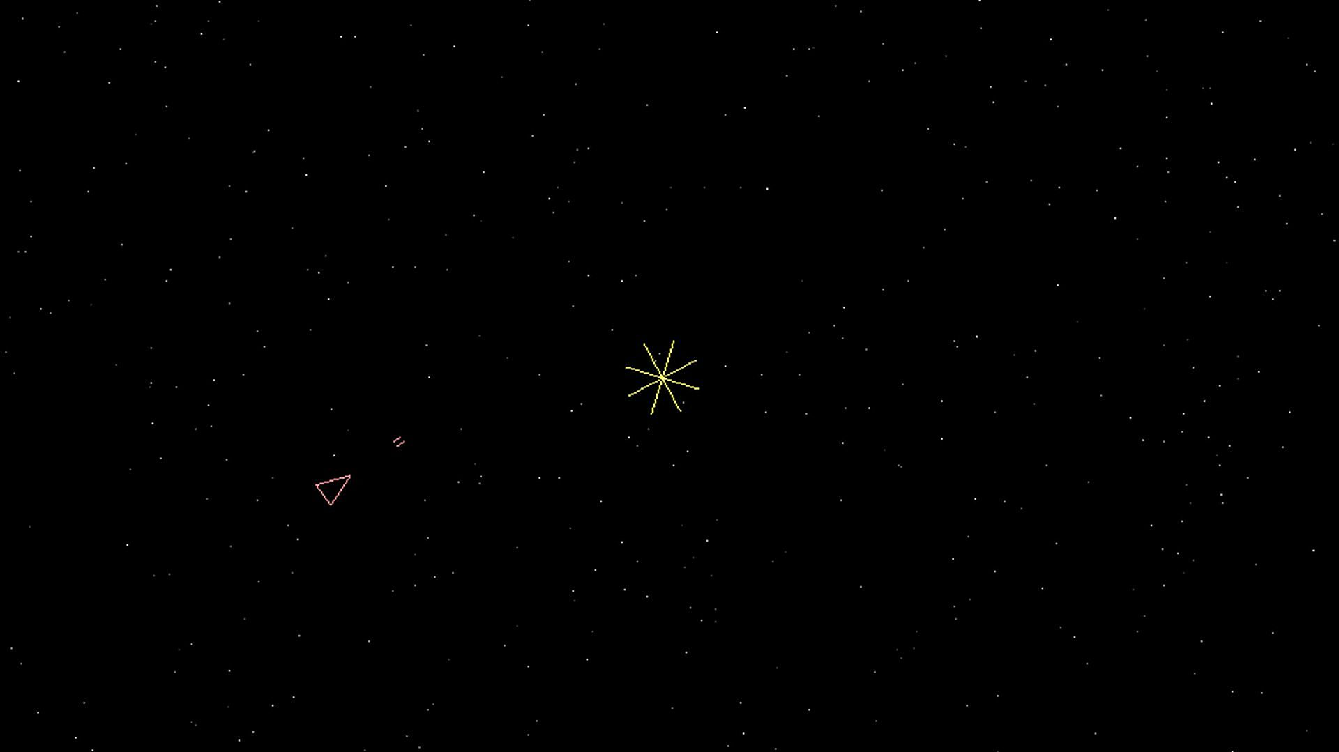 Early Spacewar! game play; the game was constantly developed by programmers with access to the PDP-1.