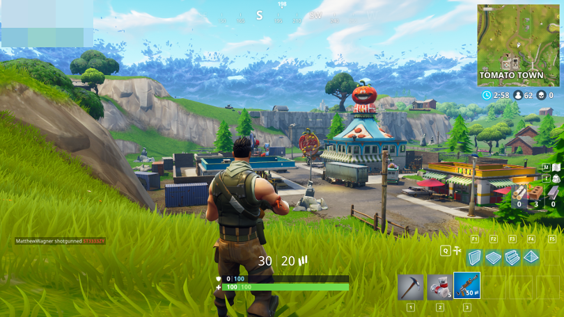 Example of gameplay from Fortnite.