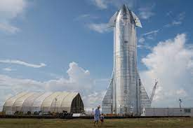 Starship at the SpaceX test center.