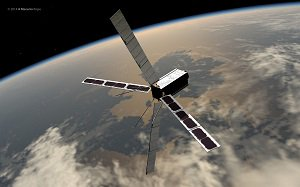 Example of a low Earth orbit satellite.