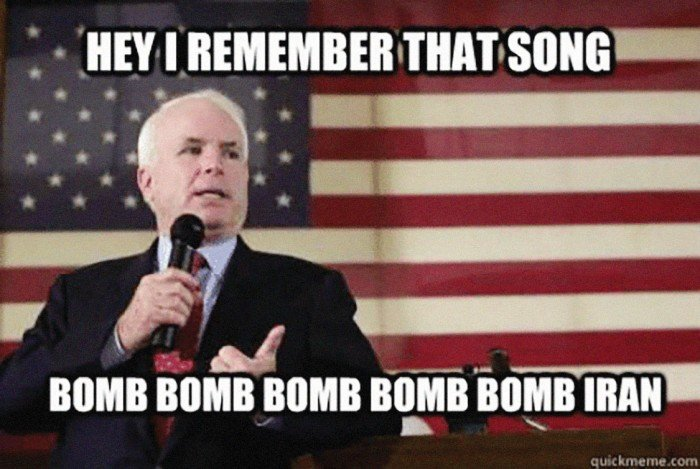 An example of the 2007 John McCain memes.