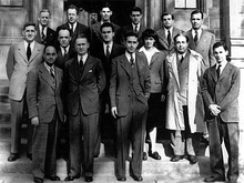 Part of the Chicago Pile Team, including Enrico Fermi and Leó Szilárd