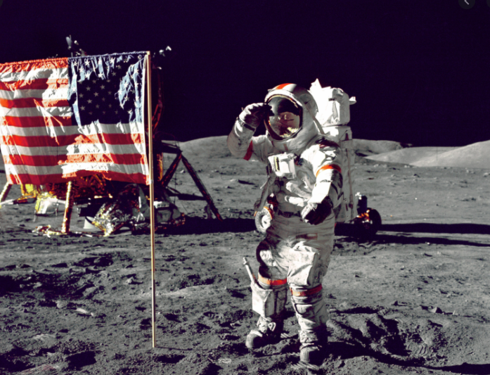 Neil Armstrong on the moon (1969)