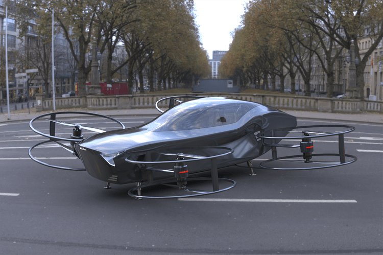 A rendering of the AirCar concept.