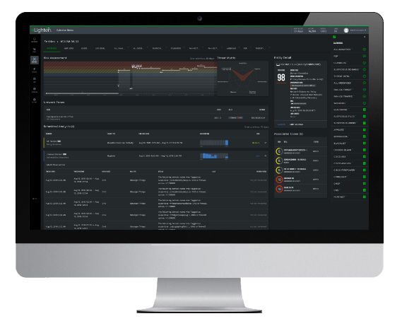 A screenshot of the nLighten platform taken from Cybraics' website.