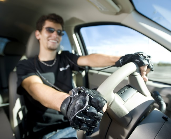 A graduate student using the Drive Grip system