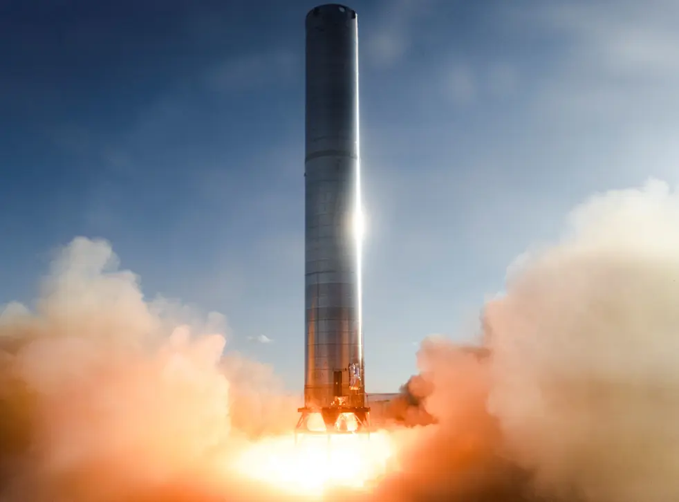 Image of the Super Heavy booster rocket.