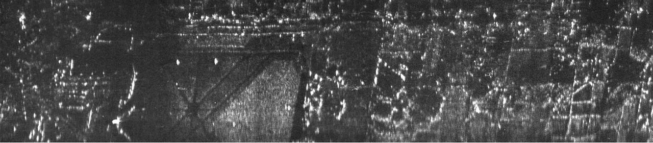 August 1957 airborne synthetic aperture radar image from Willow Run Airport and vicinity.