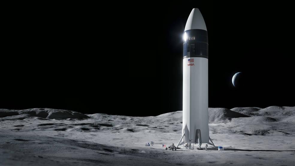 Illustration of a proposed SpaceX lander for NASA's Artemis program.