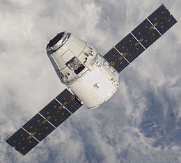 The Dragon Capsule approaching the ISS.