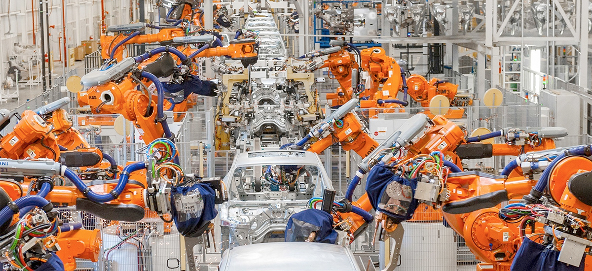 Example of an automated manufacturing environment.