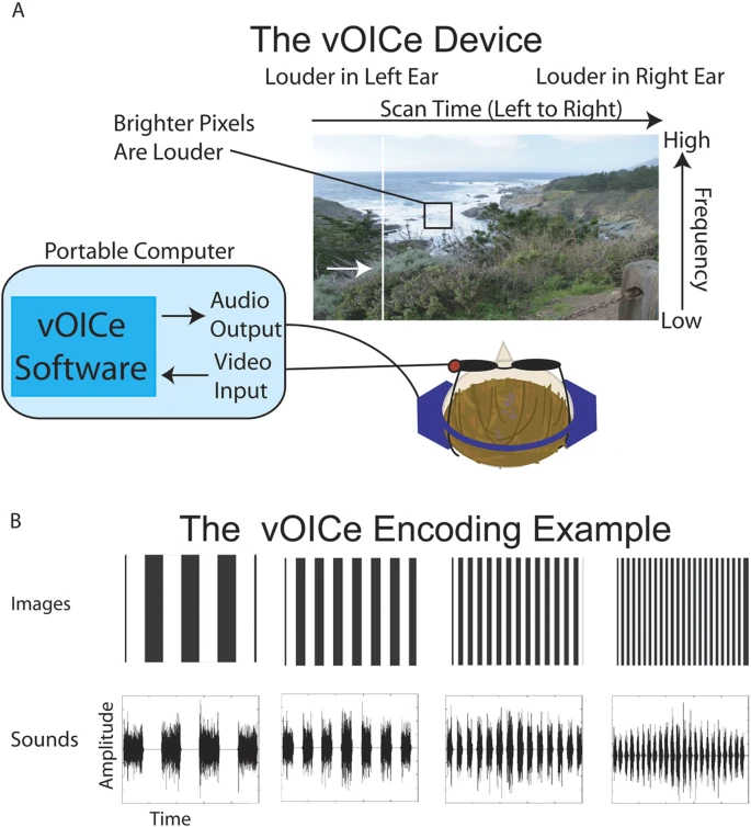 Visualization of the vOICe encoding system.